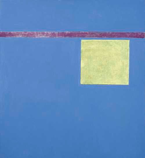 Theodoros Stamos, 'Hovering Yellow Sun Box', acrylic on canvas, signed and dated, 1967. Photo: Koller