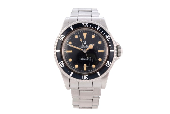 Oyster Perpetual Submariner, vers 1969, référence 5513, image ©Fellows