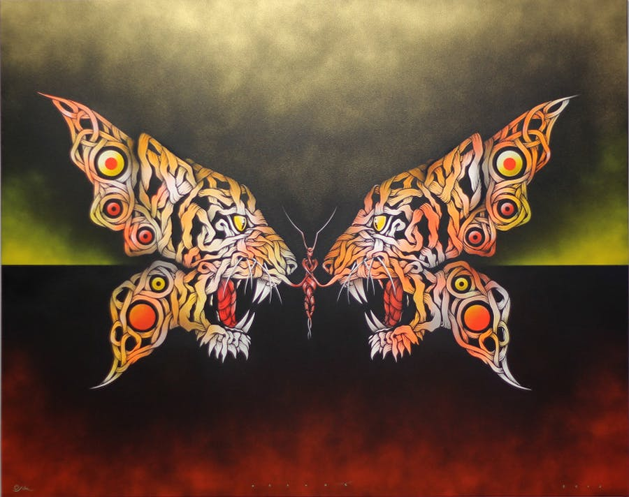 OTTO SCHADE Tiger Butterfly, 2015