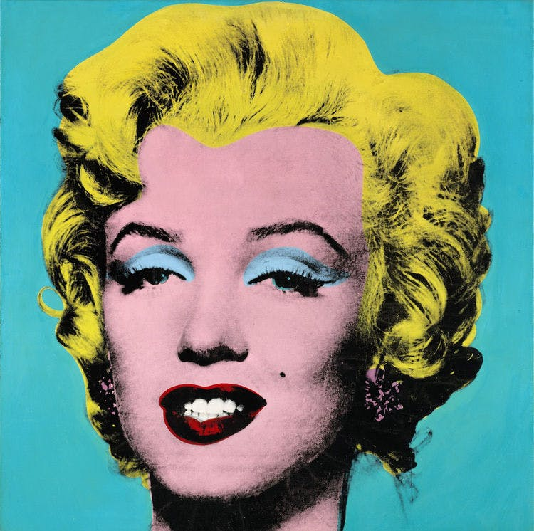 Turquoise Marilyn, Andy Warhol, 1964. Foto: bloomberg.com