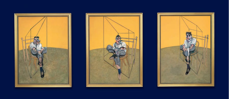 "Francis Bacons ""Three Studies of Lucian Freud"". Foto: Christie's."