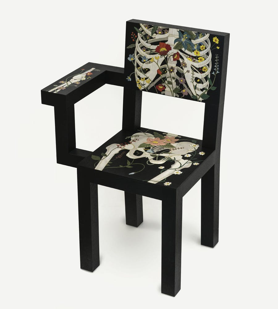 Marcantonio, Life After Life, chair designed for the Wooderkammer collection, limited edition of 8 copies, production Scapin, 2019, image © Cambi Casa D'Aste