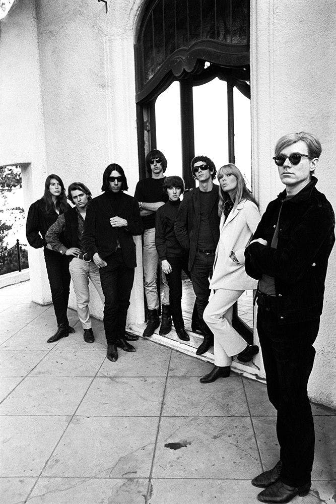 Andy Warhol et le groupe des Velvet Underground, Los Angeles, Californie, 1966 © Steve Schapiro, courtesy the A. Gallery ,Paris