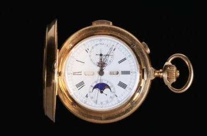 14K gold Le Phare pocket watch