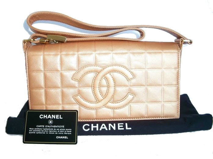"CHANEL - ""Choco bar"" Shoulder Bag"
