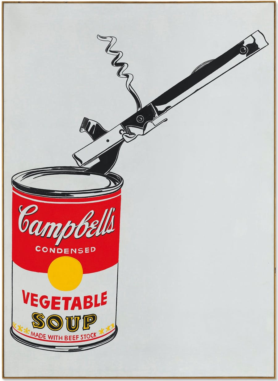 Andy Warhol, Big Campbell's Soup Can with Can Opener (Vegetable), 1962 | Abb.: Christie's