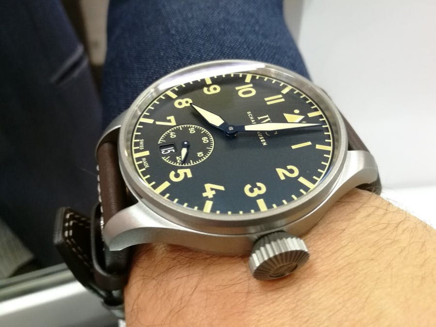 Todays Wristshot: IWC Big Pilot´s Heritage Watch 48, with a Brown calfskin strap, cal.59215.