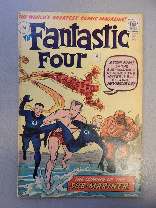Marvel Comics - Fantastic Four #4 (1962)