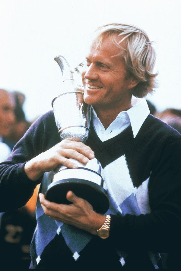 Jack Nicklaus at the 1978 British Open wearing the Rolex Day-Date. Courtesy of the Nicklaus Companies via Phillips