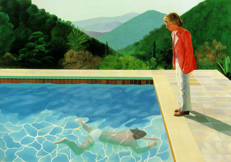 Portrait of an Artist (Pool with Two Figures)  1971 Collection David Geffen Image via ibiblio.org