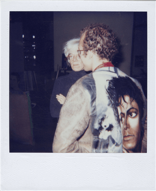 Andy Warhol et Keith Haring Andy Warhol Polaroïd unique Christie's Online Only