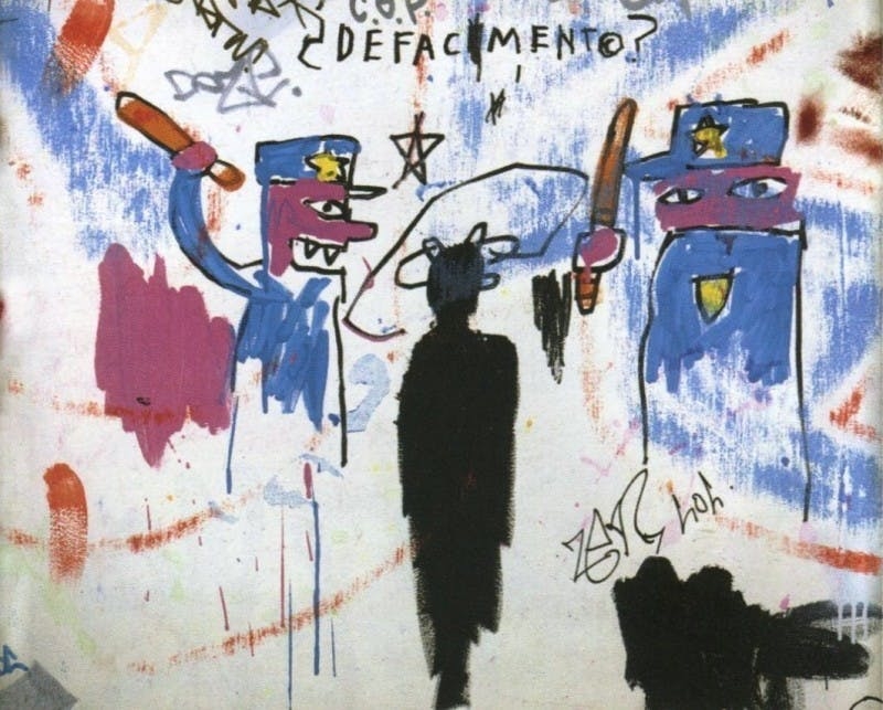 « Defacement (The Death of Michael Stewart) », 1983, image via sugarcanemag.com.