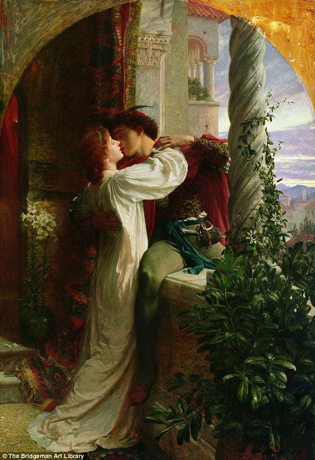 FRANK BERNARD DICKSEE - Romeo and Juliet, 1884 Abb. via dailymail.co.uk