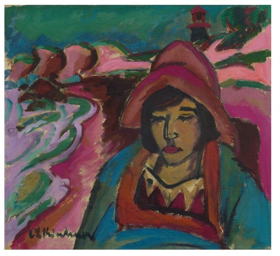 Ernst Ludwig Kirchner, The Girl in the south-west, 1912