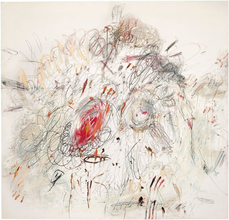 Cy Twombly, Leda and the Swan, Image via Christie's