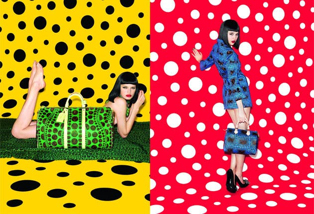Yayoi Kusama pour Louis Vuitton, image via The D'Vine