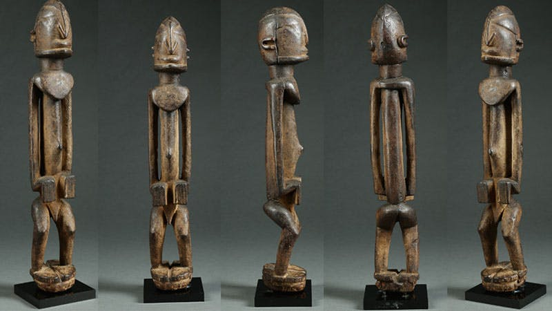 Figure Dogon, bois sculpté Dogon, Mali, circa 1700-1800 Estimation: 60 000 $ - 120 000 $