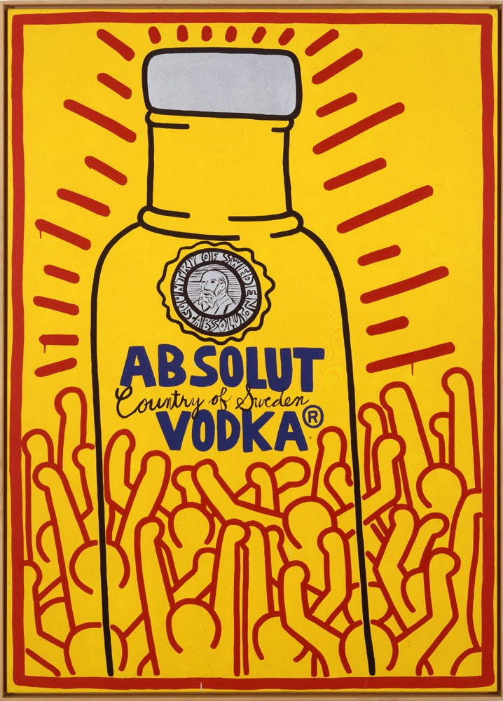 Keith Haring Absolut Haring, 1986 Acrylic on canvas, 213 x 152 cm Spritmuseum © Keith Haring Foundation.
