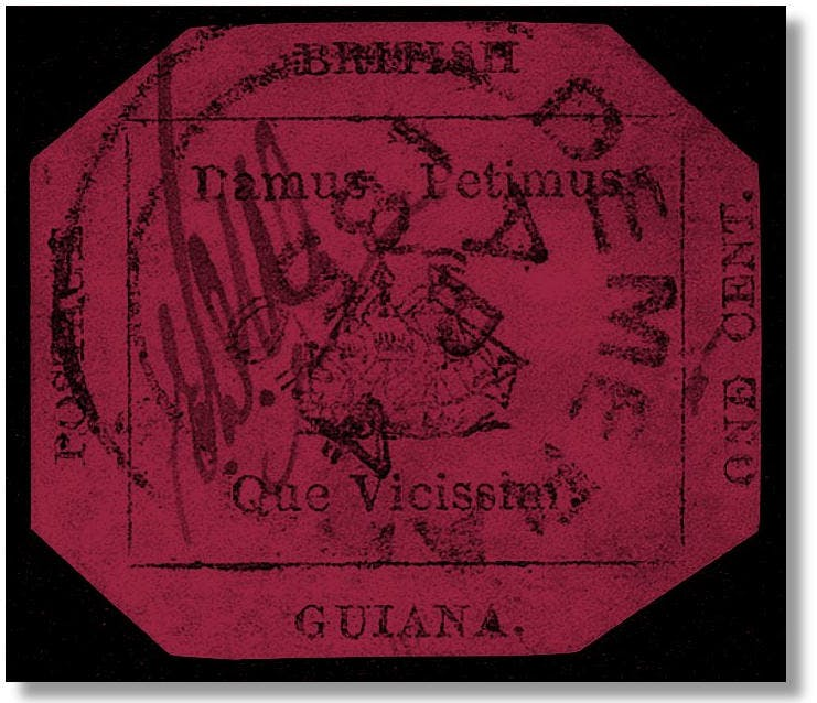 The British Guiana 1 cent Magenta. Bild: glenstephens.com