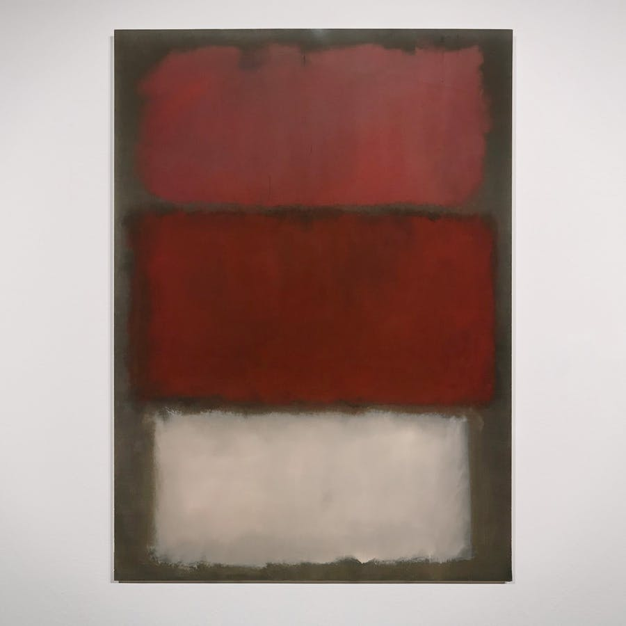 Untitled, Mark Rothko. 1960, oil on canvas. San Francisco Museum of Modern Art © 1998 Kate Rothko Prizel & Christopher Rothko / Artists Rights Society (ARS) New York; photo: Katherine Du Tiel. Sold at Sotheby's on May 16 for $50 million.