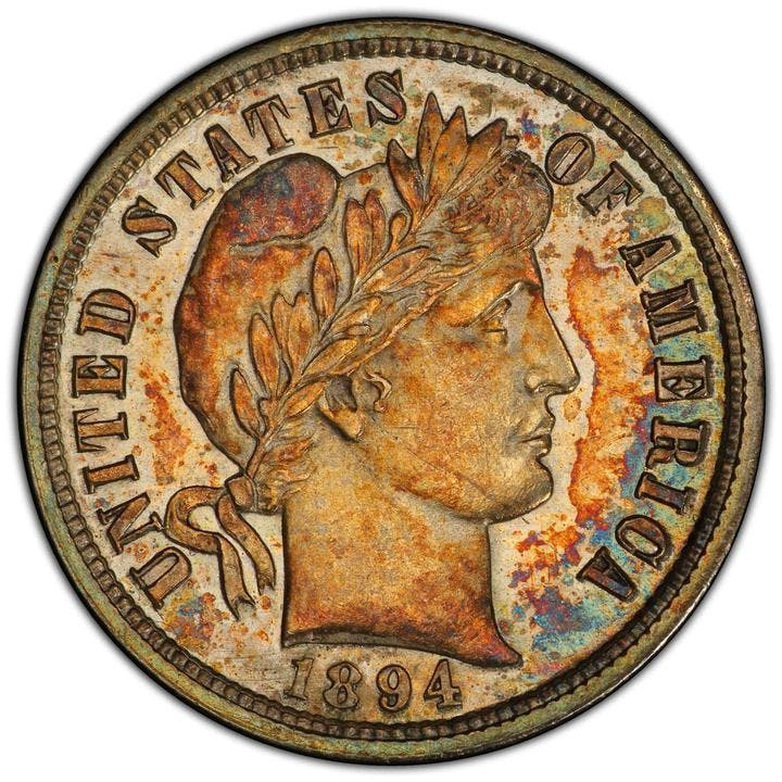 1894-S Barber Dime. Foto: Stack's Bowers
