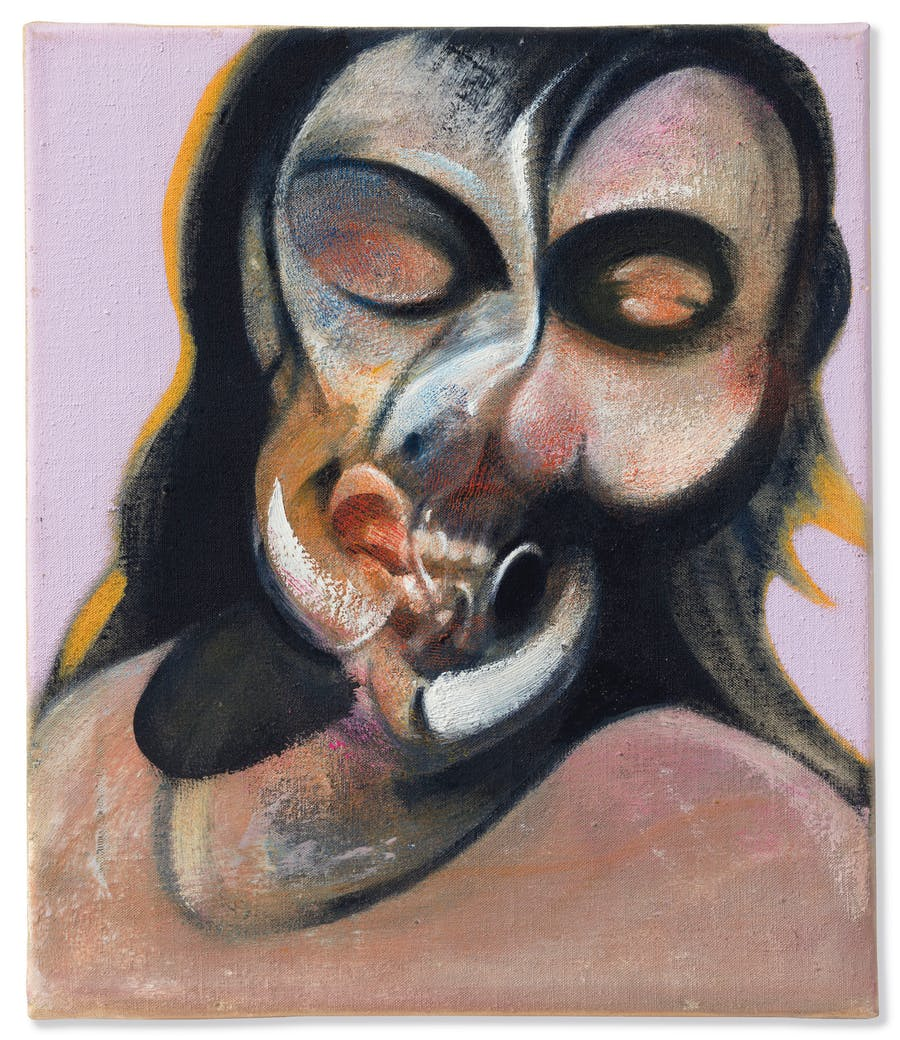 Francis Bacon (1909-1992), Etude de Henrietta Moraes Laughing, peint en 1969. Huile sur toile. © Francis Bacon Estate / DACS, Londres / ARS, NY 2018 via Christie's