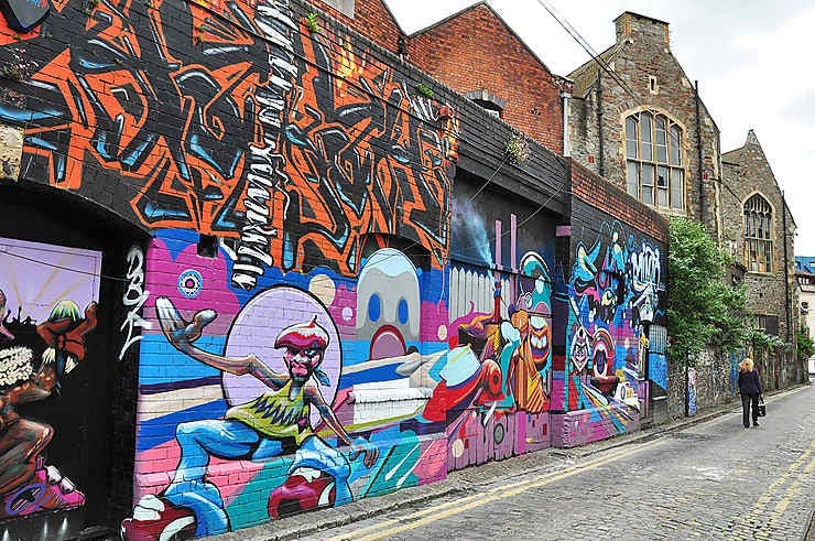 Some of the best street art in the world can be found in Bristol, England