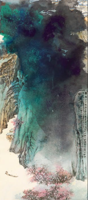 Zhang Daqian, Peach Blossom Spring (1982) Courtesy Sotheby's