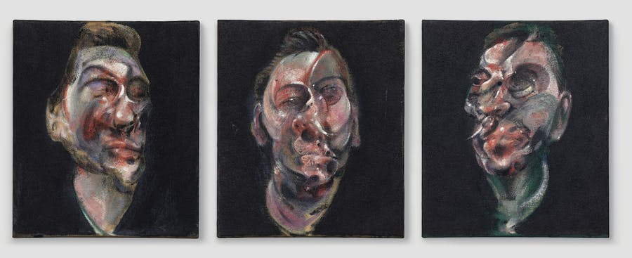 Francis Bacon, Three Studies for a Portrait of George Dyer, Image via Christie's