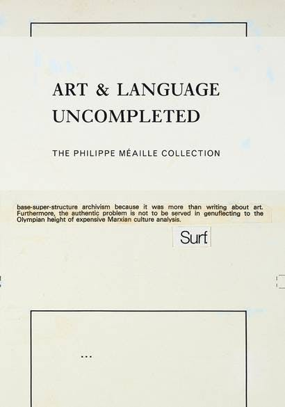 Art & Language Uncompleted Collection Philippe Méaille   Photo via the Telegraph
