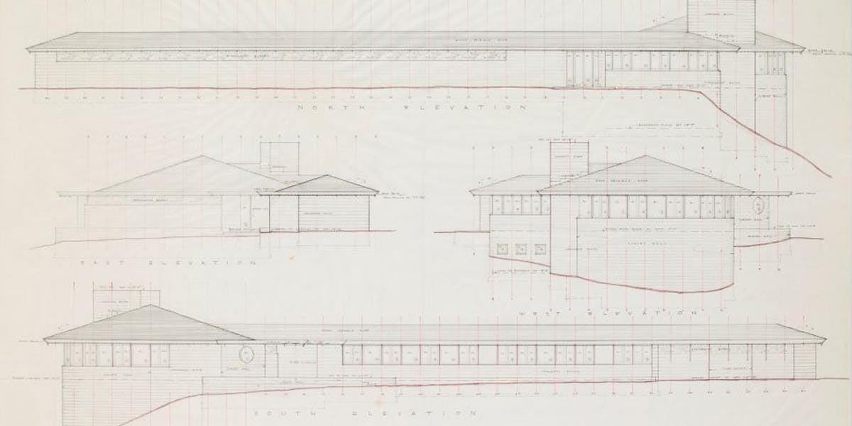 A Frank Lloyd Wright Drawing At Auction