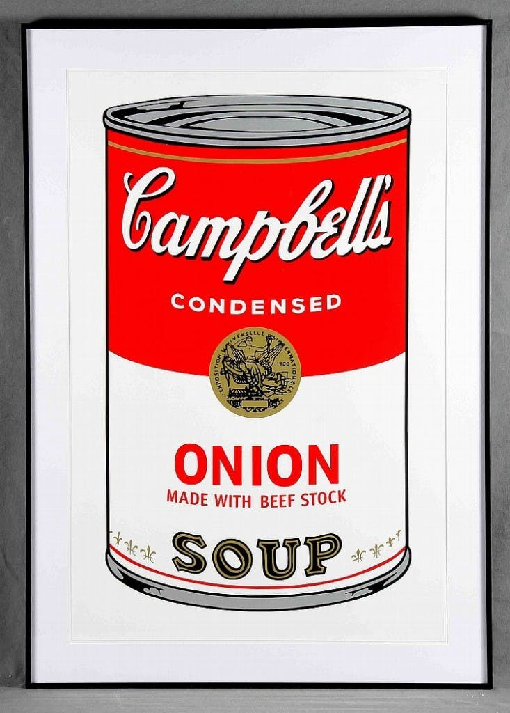 "ANDY WARHOL - ""Campbell's Soup Can 11.47. Onion"", Lithografie (1988)"