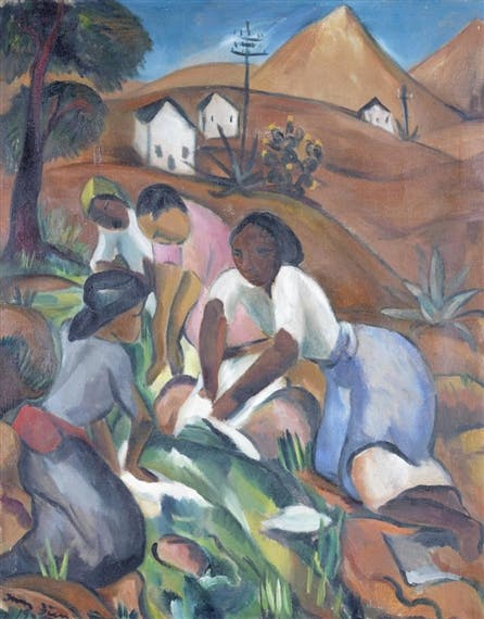 Irma Stern, « Washer Women », 1925, image via Mutual Art
