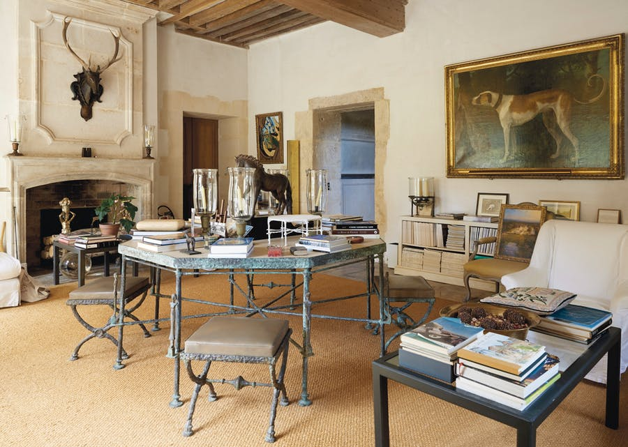 A Giacometti stag above the mantle at Givenchy's Chateau du Jonchet. Image: Art Market Monitor