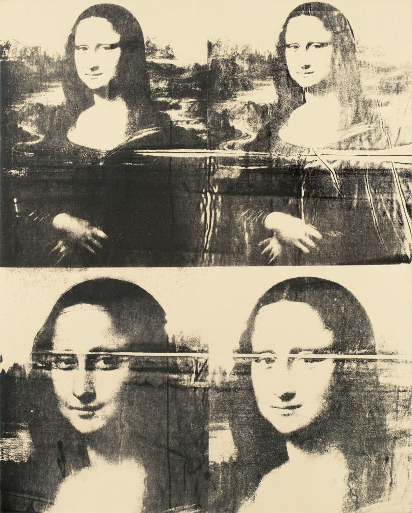 ANDY WARHOL (Pittsburgh 1928 – 1987 New York) - Mona Lisa (Four Times), Silkscreen ink/Lwd., ca. 1979