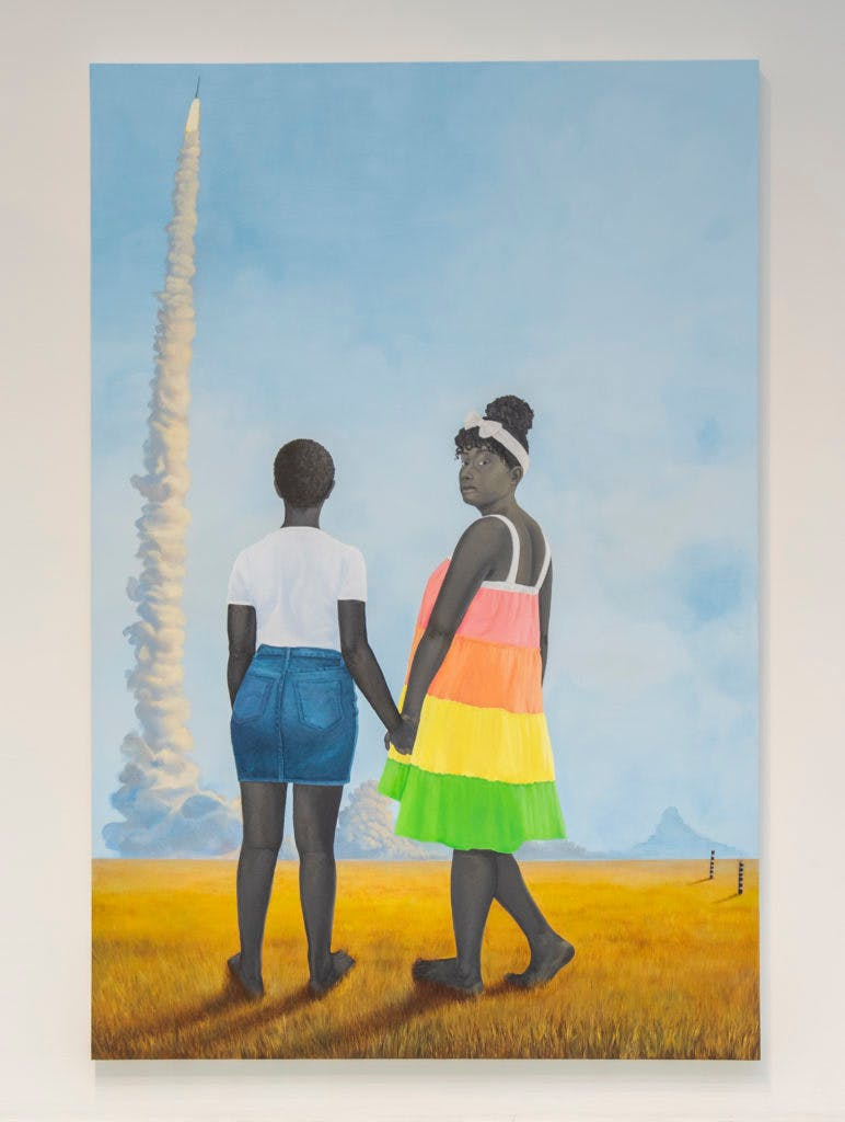Amy Sherald, Planes, rockets, and the spaces in between, 2018, image ©Baltimore Museum of Art