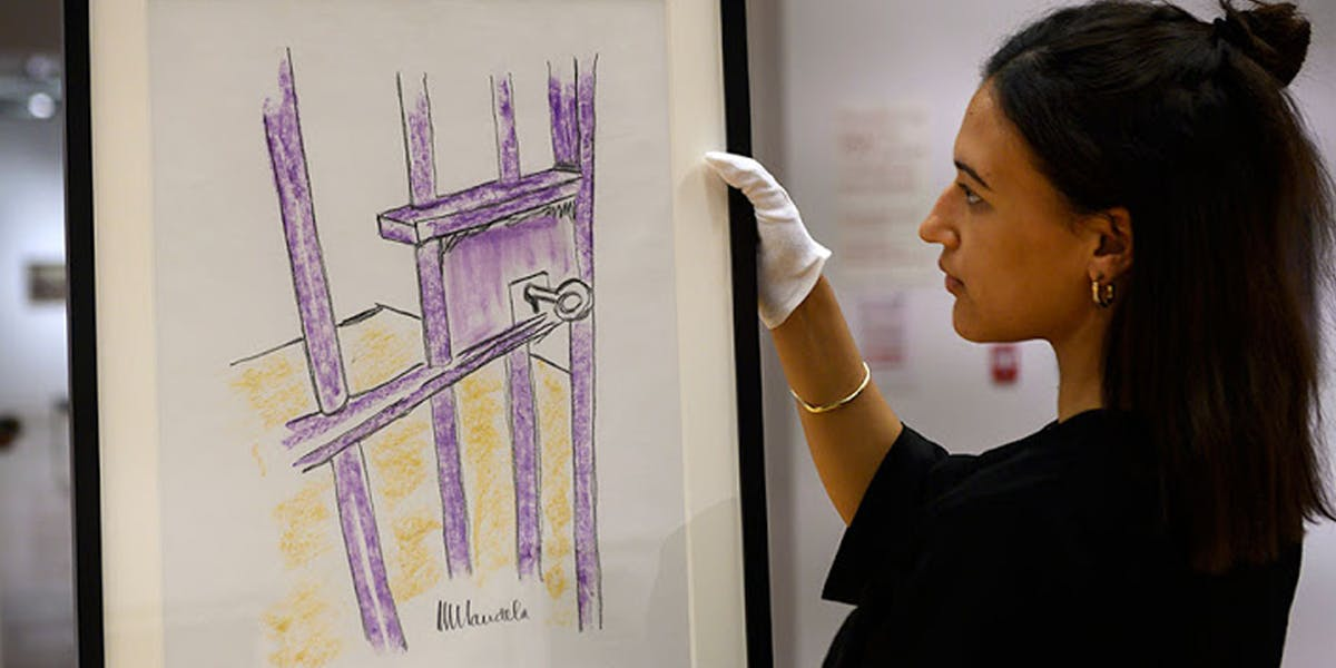 A Nelson Mandela Drawing Auctioned for Over £86,000