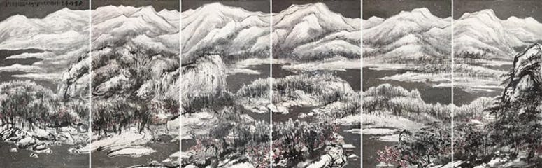 Cui Ruzhuo, The Grand Snowing Mountains, 2013