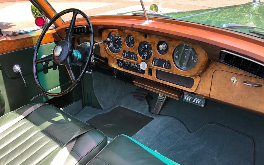 The dashboard of the Green Goddess. Image Guernseys