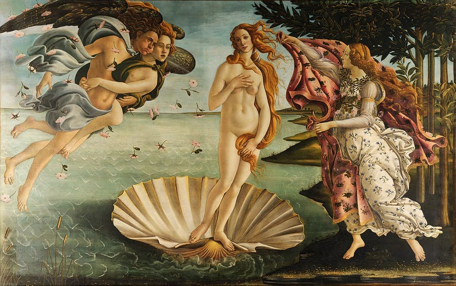 Sandro Botticelli (1445-1510), The Birth of Venus, c. 1485/86 | Photo via Wikimedia