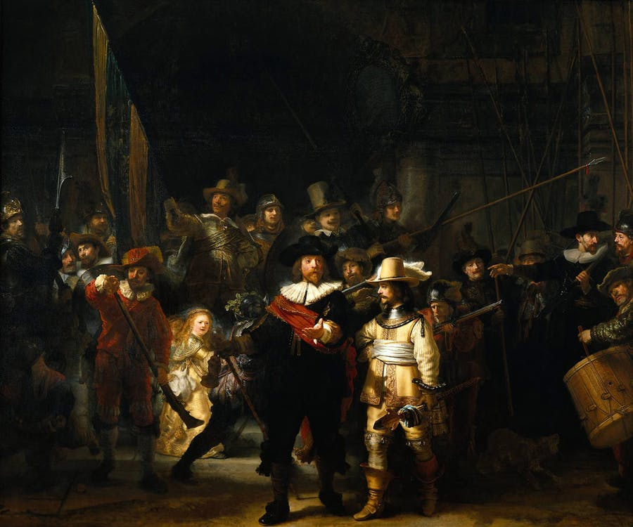 Rembrandt, The Night Watch. 1642. Foto: totallyhistory.com