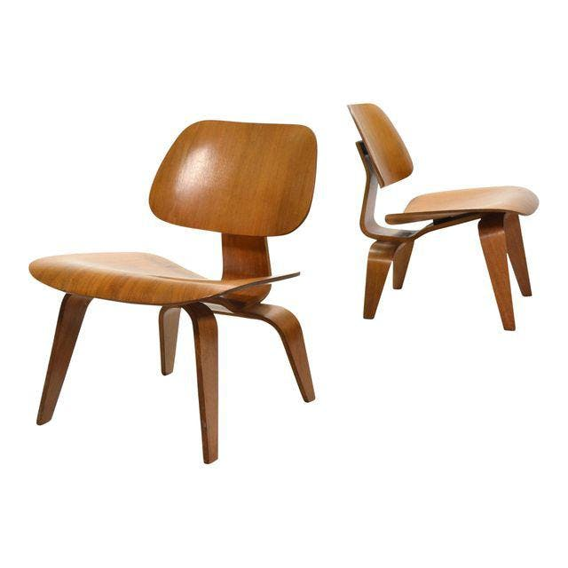 """EAMES Paar """"LCW"""" Lounge Chairs DECASO"""
