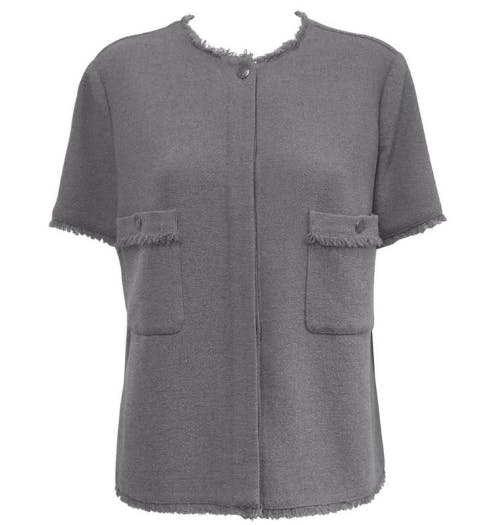 Blouse grise Chanel Classic Collections of Palm Beach