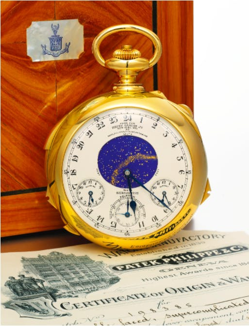 Henry Graves Jr. Philippe Patek Supercomplication, image via Sothebys.com