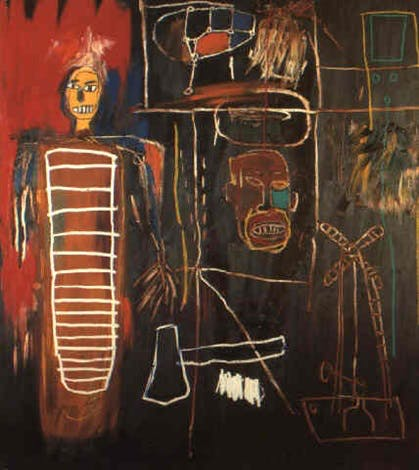 Jean-Michel Basquiat, Air Power (1984) Photo courtesy of Sotheby's