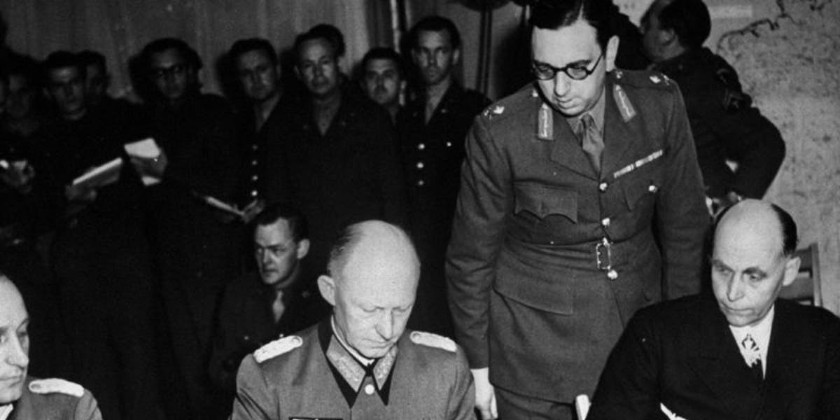 Incredible piece of history WWII Surrender Agreement at Stockholm dealer