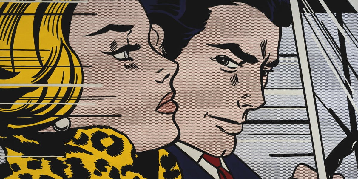 Roy Lichtenstein,'In the Car, 1963, collection du Scottish National Gallery of Modern Art