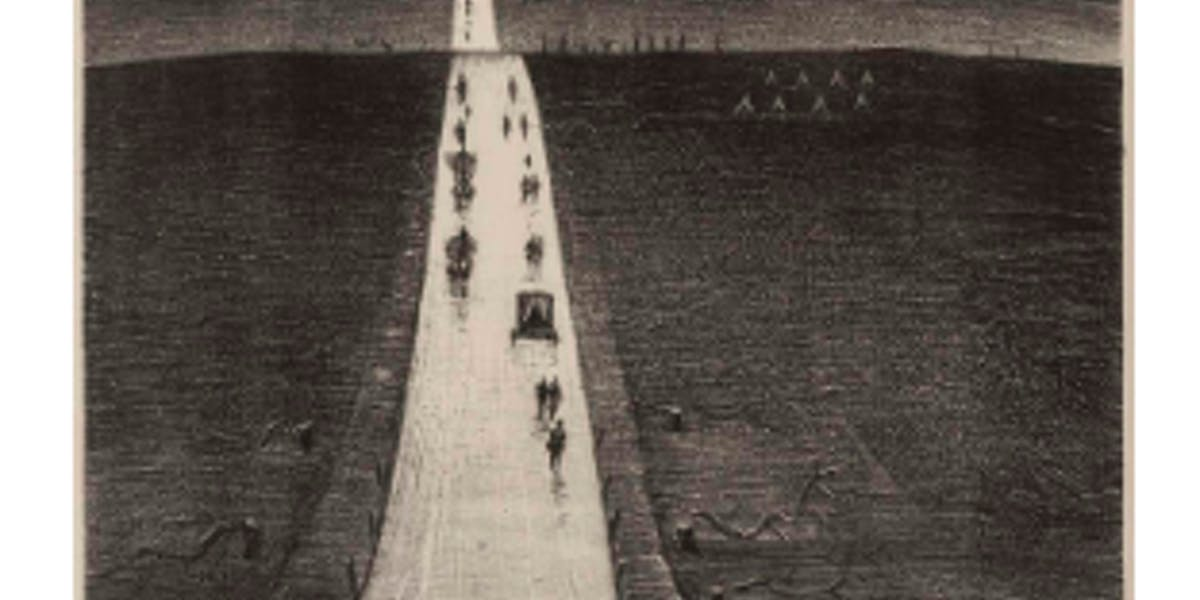 CHRISTOPHER RICHARD WYNNE NEVINSON - The Road from Arras to Bapaume, 1918 Schätzpreis: 50.000-70.000 GBP (ca. 58.340-81.676 EUR)