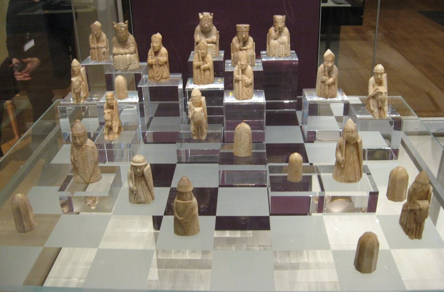 The Lewis chessmen in the British Museum. Image: Wikipedia