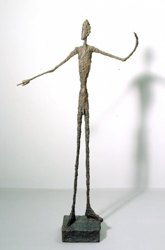 L'homme au doigt, Alberto Giacometti. 1947, image ©Tate Museum